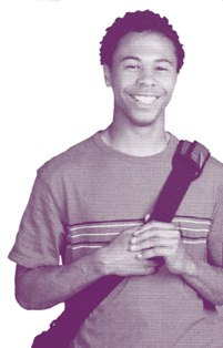 Young Man with Backpack Smiling