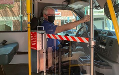 Bus Driver in Seat
