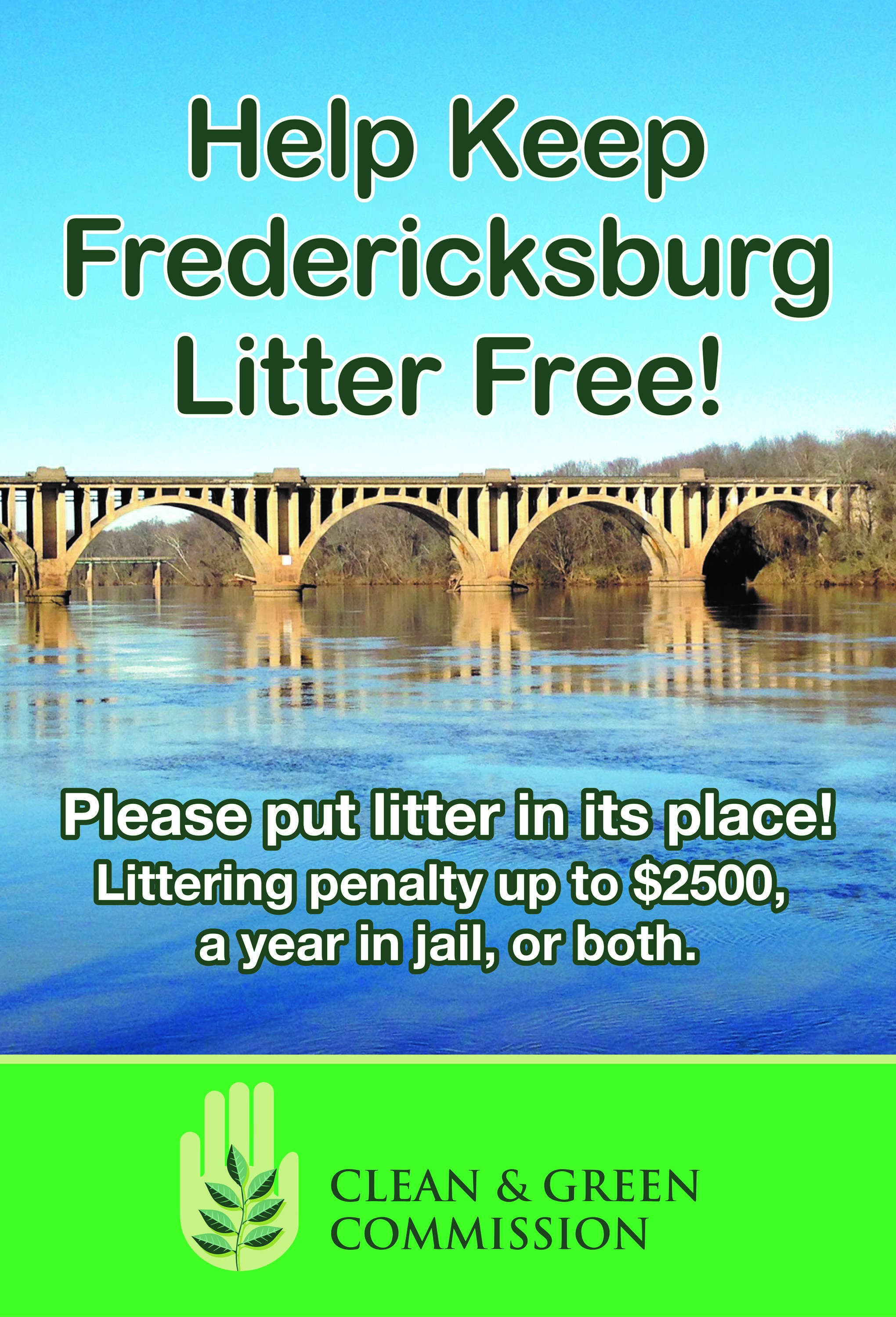 Keep Fredericksburg Litter free flyer