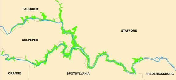 Fredericksburg Watershed Map